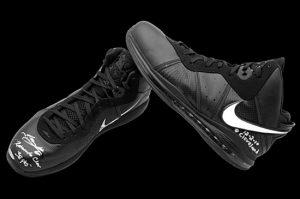 LeBron James game worn shoes