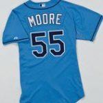 Game worn Matt Moore Rays jersey