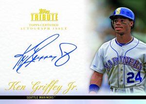 Ken Griffey Jr. signed 2012 Topps Tribute