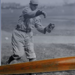 Game used Duffy Lewis bat
