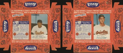 Orioles 1955 Esskay cards