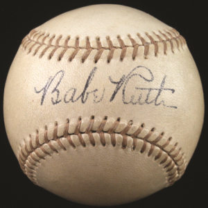 Signed Babe Ruth ball