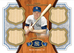 Quad Bat Relic Mantle 2012 Topps Museum Collection