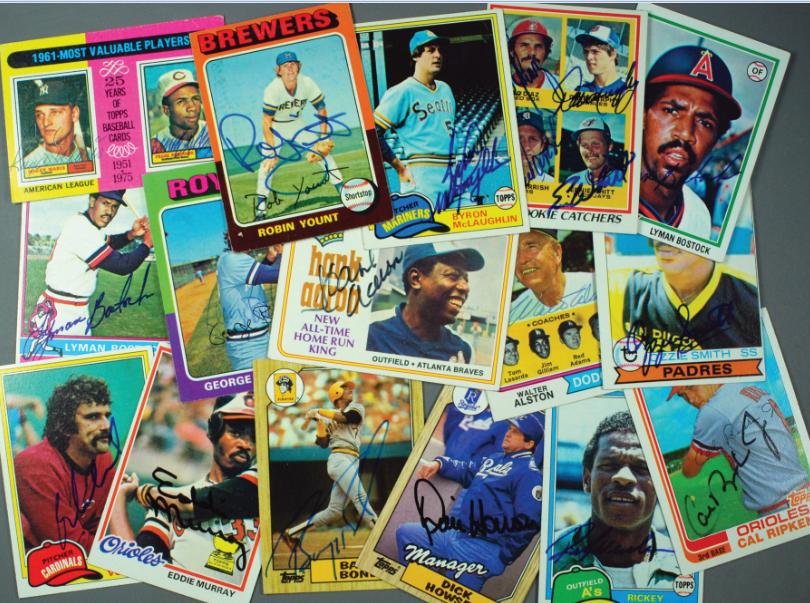 signed baseball cards