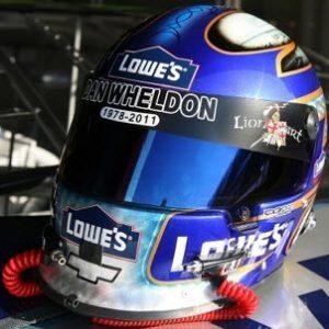 Race worn Jimmie Johnson helmet