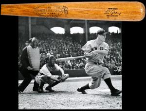 Bing Russell Lou Gehrig game bat