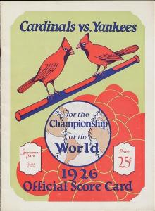 Mint condition 1926 World Series program