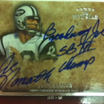 2011 Topps Five Star Joe Namath autograph