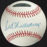 Signed Ted Williams ball