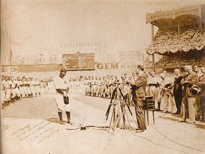 Lou Gehrig Day photo autographed