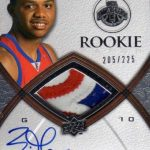 Exquisite Eric Gordon signed rookie card
