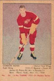 Gordie Howe rookie card