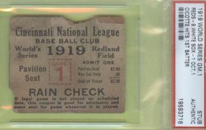 Ticket stub 1919 World Series