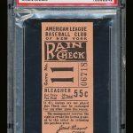 1936 Yankees ticket stub