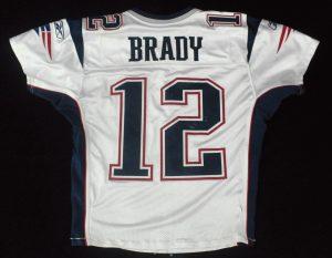 Game worn Tom Brady jersey