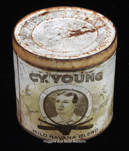 Tobacco tin Cy Young