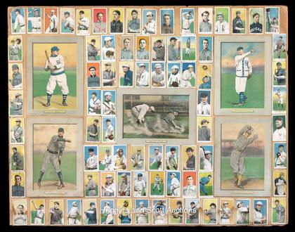 old baseball card collage