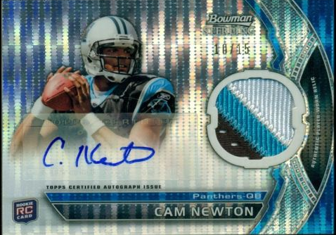 Cam Newton 2011 Bowman Sterling auto