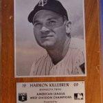 1969 AL West plaque Harmon Killebrew