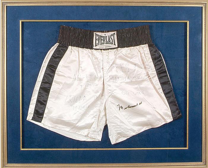 Thrilla in Manila Ali signed trunks