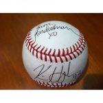 Kim Kardashian-Kris Humphries dual signed ball