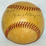 Honus Wagner autographed baseball