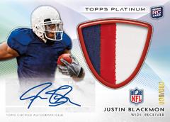 Justin Blackmon autographed 2012 Bowman Platinum
