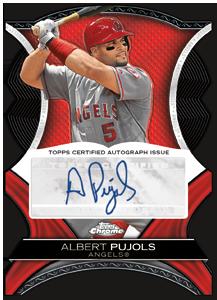 Albert Pujols 2012 Topps Chrome Diamond Die Cut Autograph