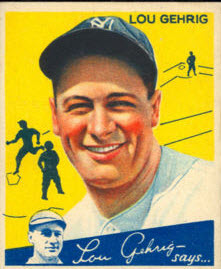 Lou Gehrig 1934 Goudey