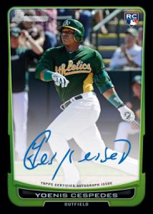 Autographed Yeonis Cespedes card