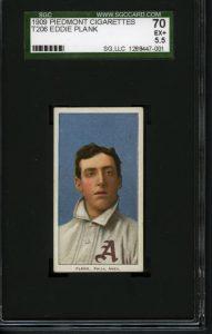 Eddie Plank T206 baseball card