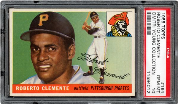 Roberto Clemente 1955 Topps rookie card PSA 10