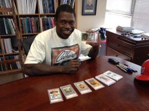 Card collector Dmitri Young