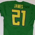 Game worn Oregon jersey LaMichael James