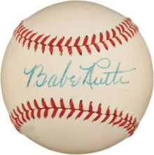 Autographed Babe Ruth baseball