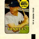Mickey Mantle 1969 Topps Decal