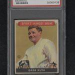 Babe Ruth 1933 Sport Kings baseball card