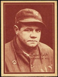 Babe Ruth 1931 baseball card W517