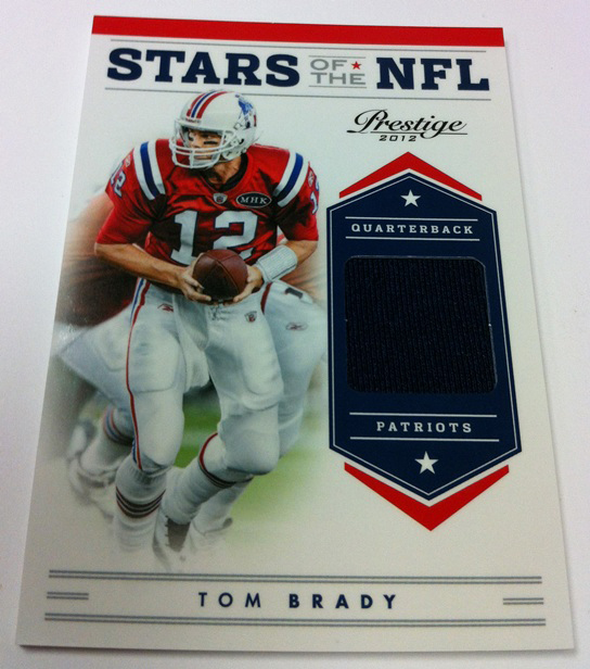 Tom Brady relic card 2012 Panini