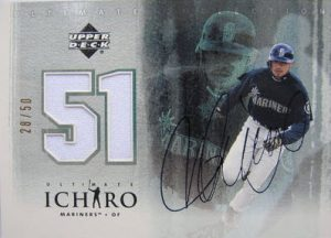 Ichiro autographed 2001 Ultimate Collection