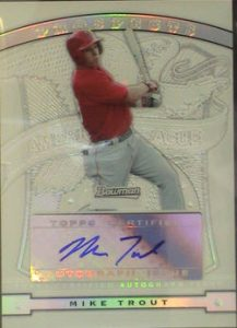 Mike Trout Sterling auto