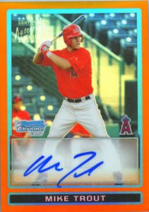 2009 orange refractor auto Mike Trout