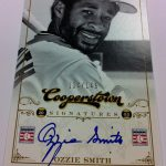 Ozzie Smith autograph Panini Cooperstown 2012