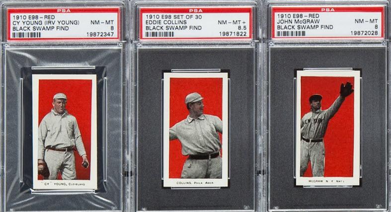 E98 1910 baseball cards