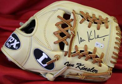 Signed Ian Kinsler glove