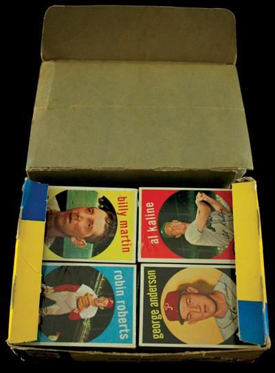 Unopened packs 1959 Topps baseball
