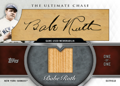 Babe Ruth 2013 Topps Ultimate Chase autograph