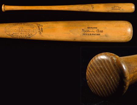 Game used Mel Ott bat