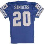 Game worn Barry Sanders jersey