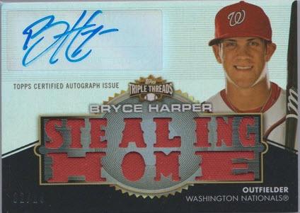 2012 Triple Threads Bryce Harper autograph